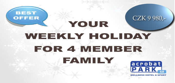 package YOUR WEEKLY HOLIDAY FOR 4 MEMBER FAMILY